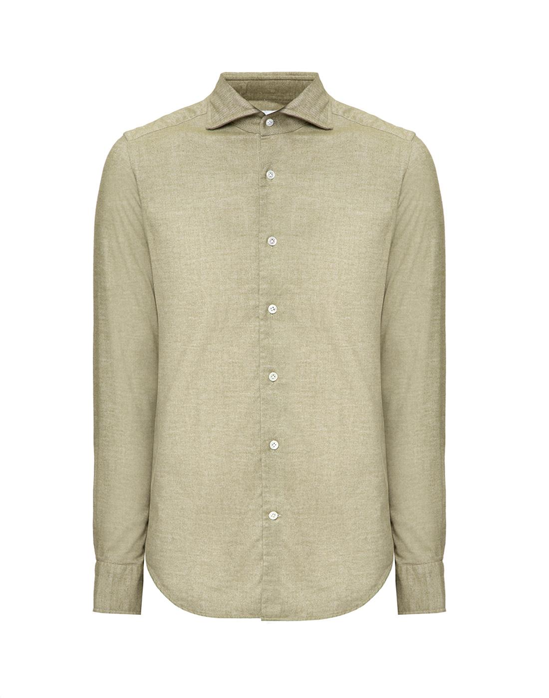 Мужская рубашка оливкового цвета Bagutta S08408.060-1
