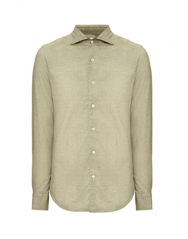 Мужская рубашка оливкового цвета
