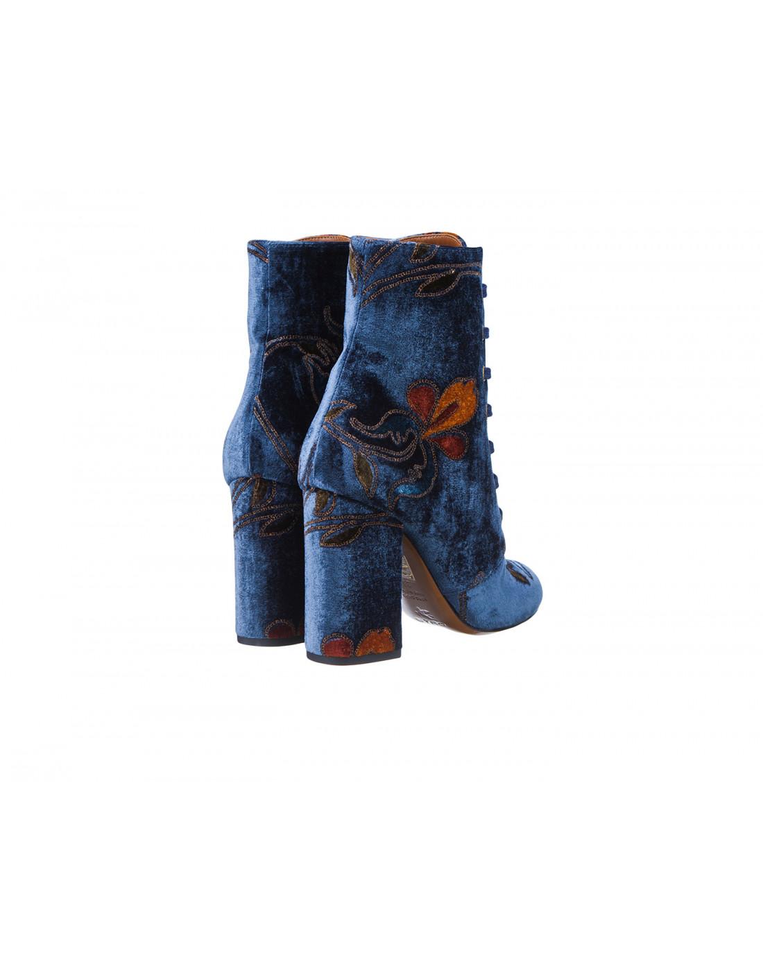 Ботильоны синие женские