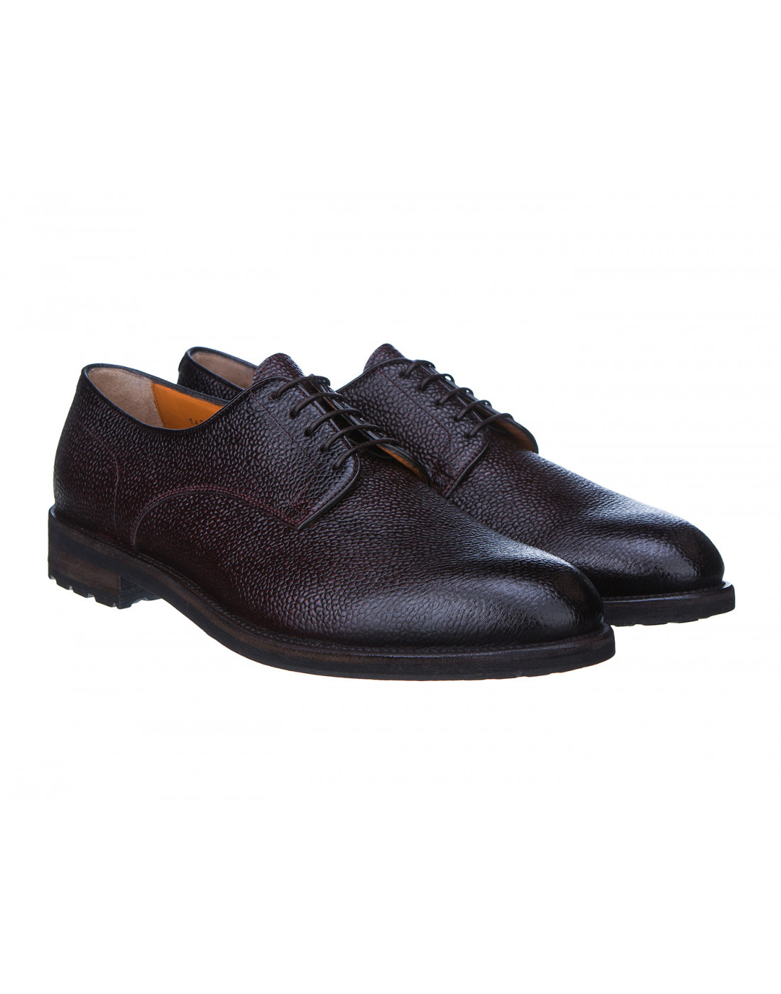 Туфли бордовые мужские