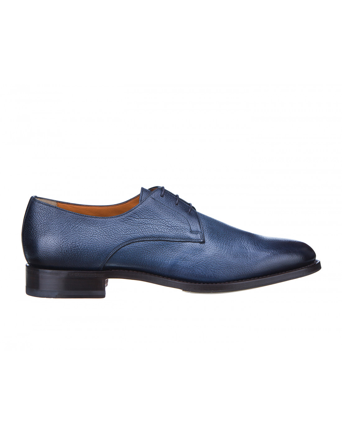 Туфли синие мужские Santoni S14303-1