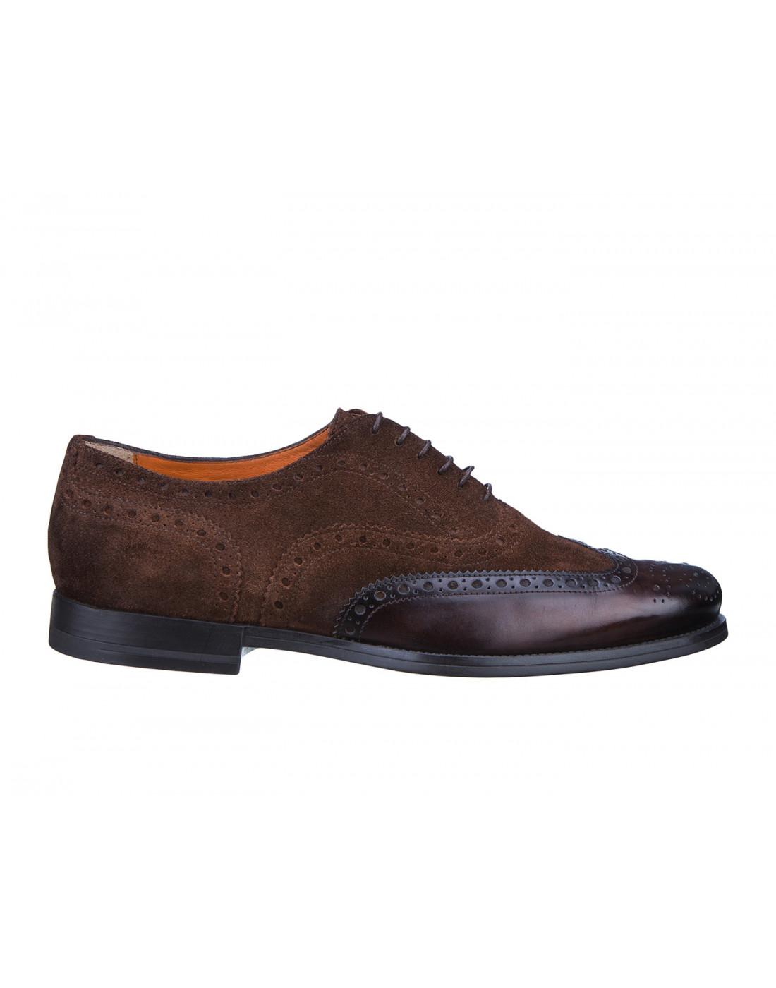 Туфли коричневые мужские Santoni S15752 - 50-1