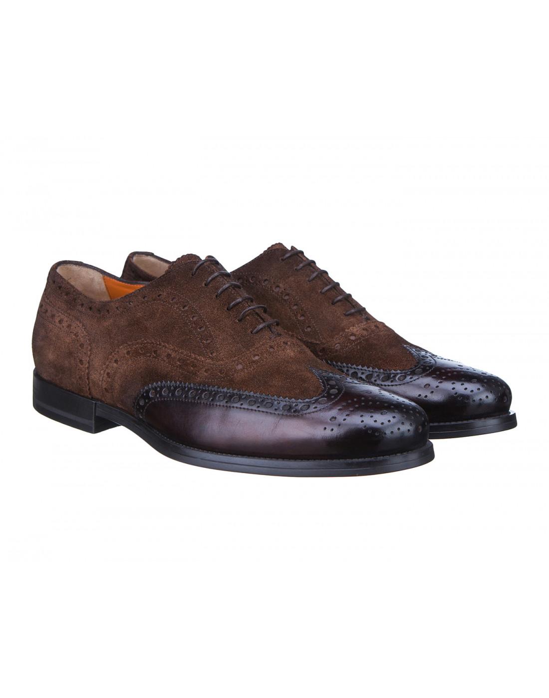 Туфли коричневые мужские Santoni S15752 - 50-2