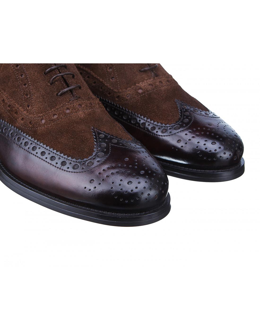 Туфли коричневые мужские Santoni S15752 - 50-4