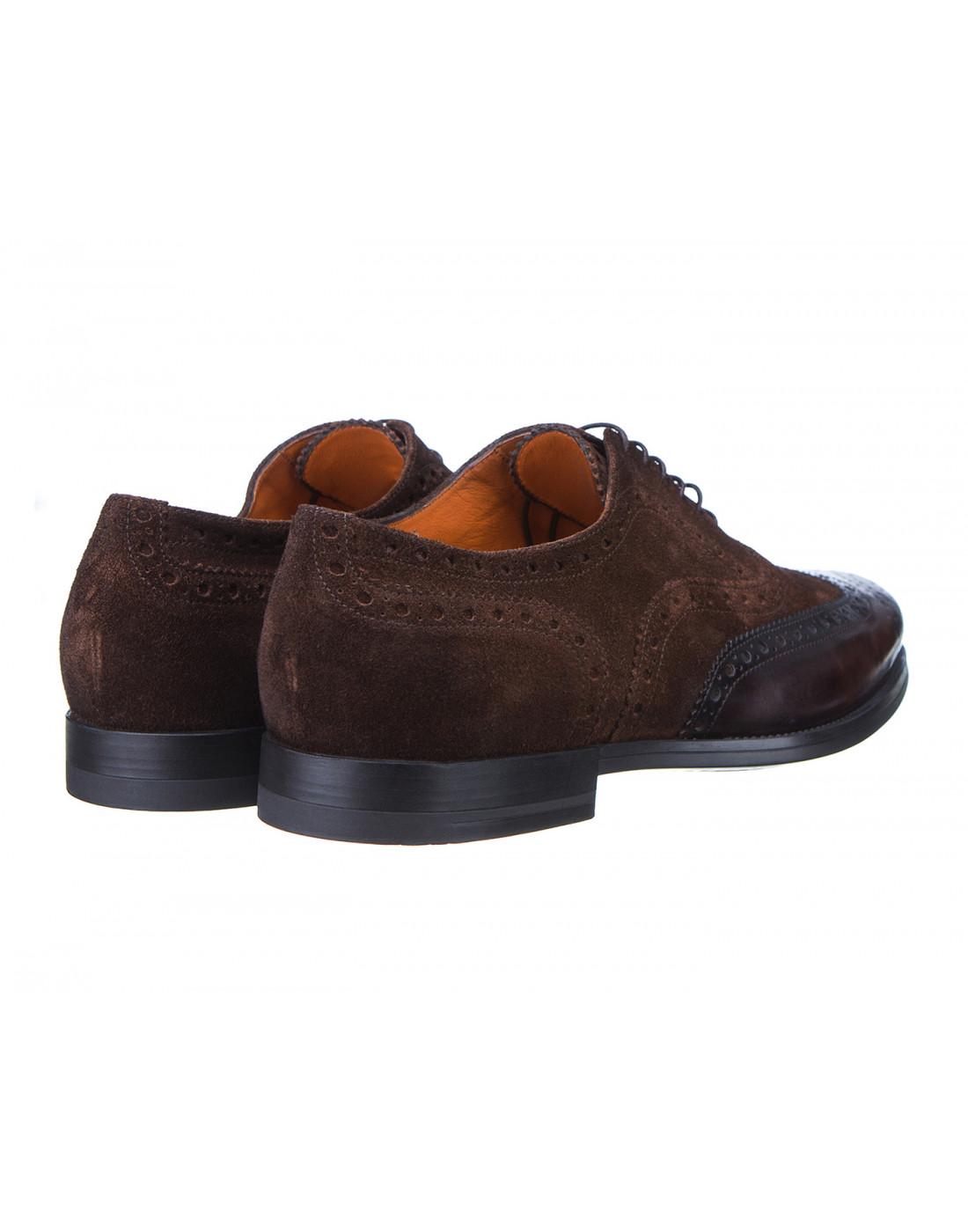 Туфли коричневые мужские Santoni S15752 - 50-3