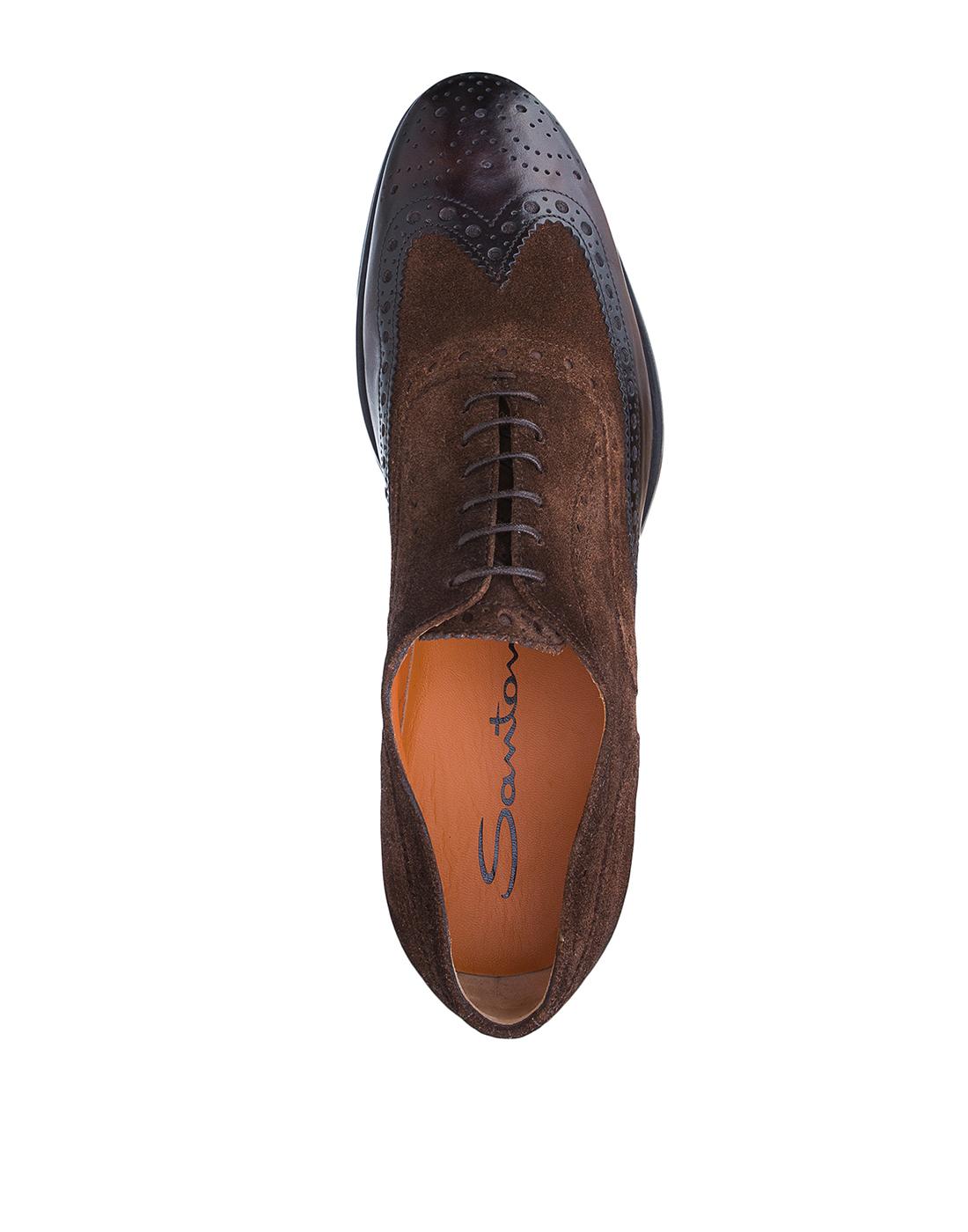 Туфли коричневые мужские Santoni S15752 - 50-5