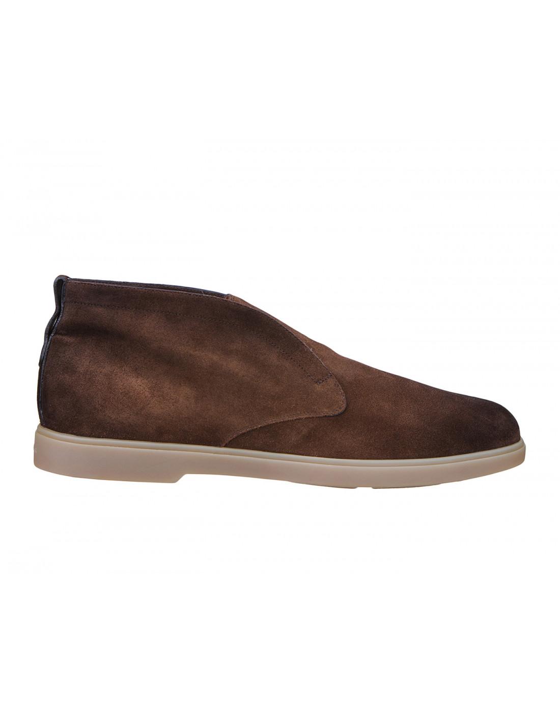 Ботинки коричневые мужские Santoni S15777-1