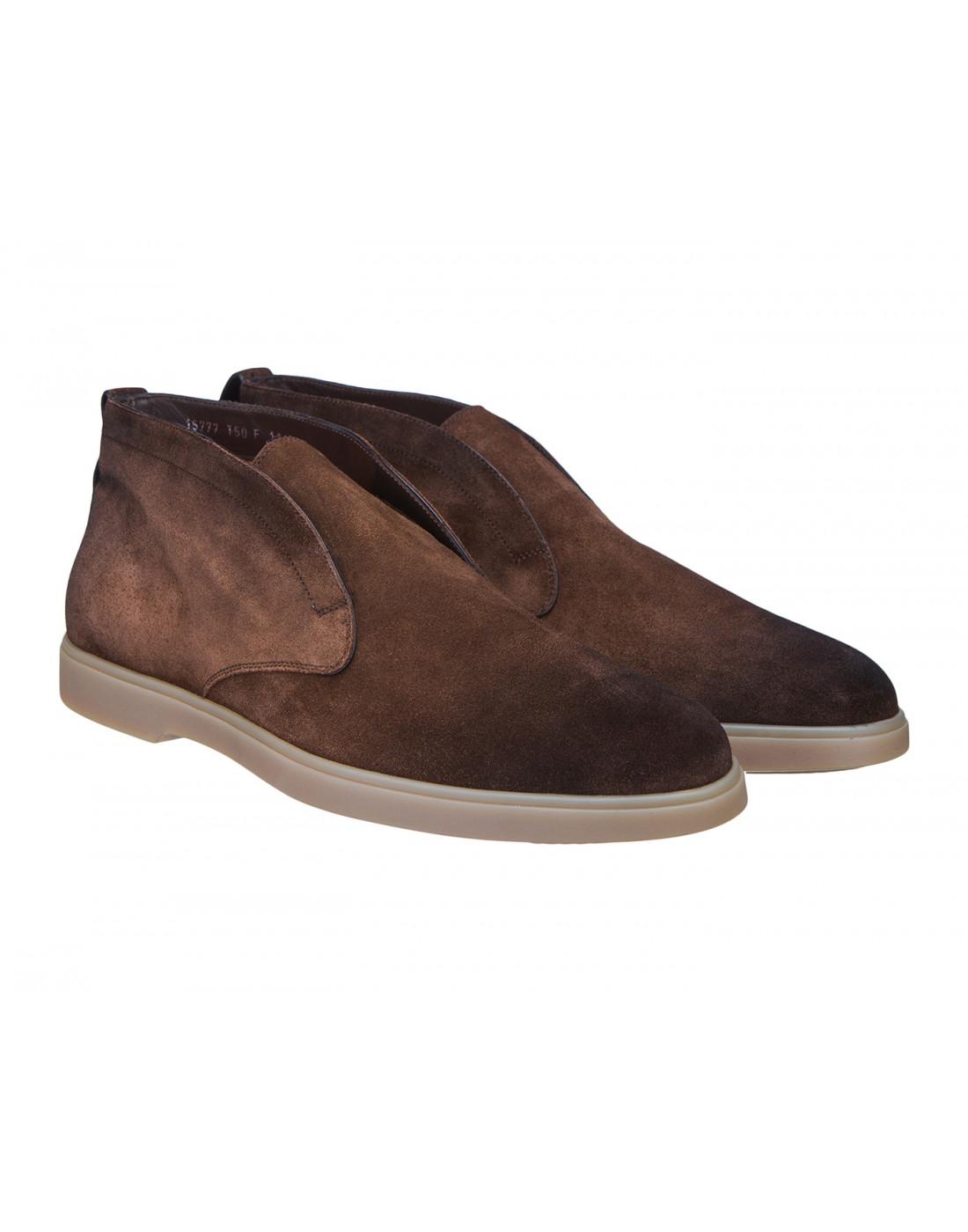 Ботинки коричневые мужские Santoni S15777-2