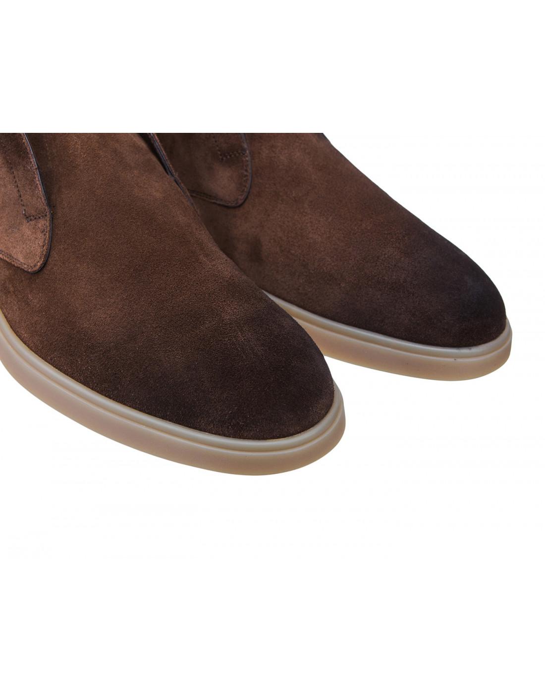 Ботинки коричневые мужские Santoni S15777-4