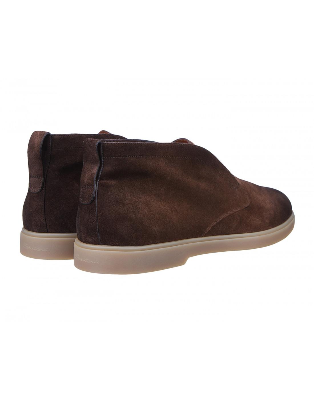 Ботинки коричневые мужские Santoni S15777-3