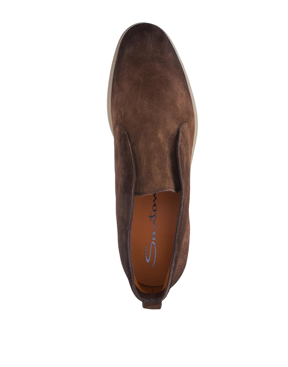 Ботинки коричневые мужские Santoni S15777-5