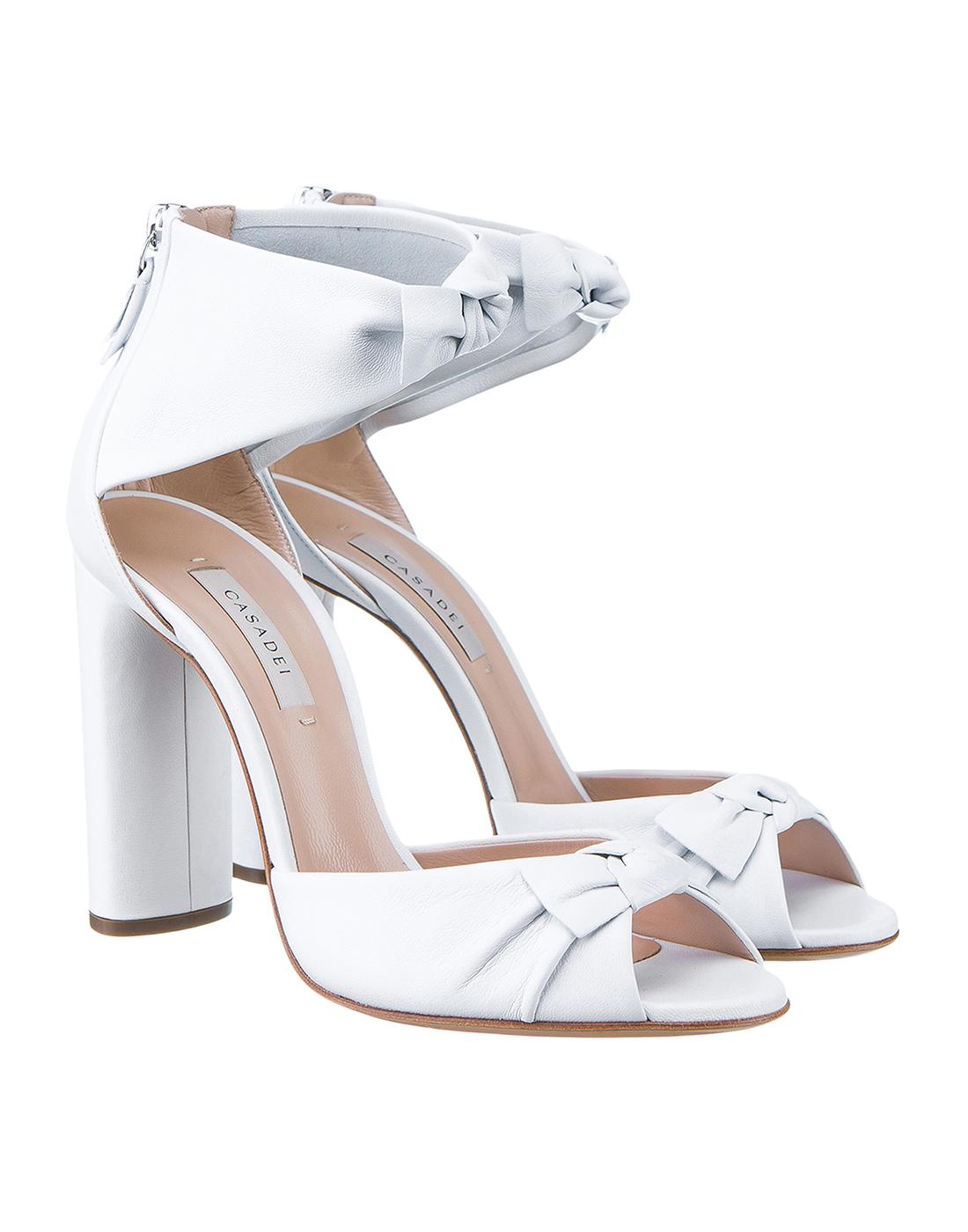 Босоножки белые женские  Casadei S1L530P1001MINOR9999-2