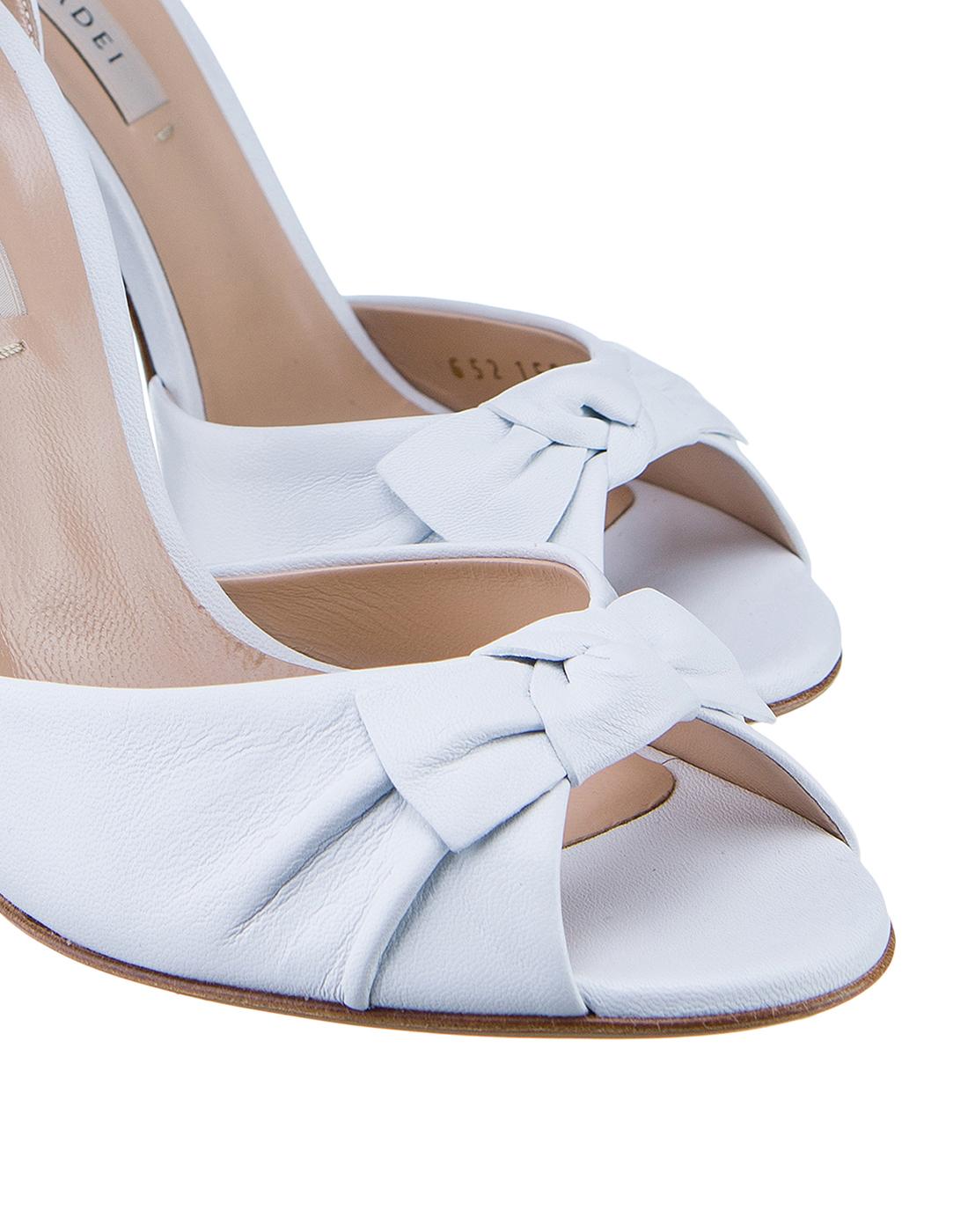 Босоножки белые женские  Casadei S1L530P1001MINOR9999-4