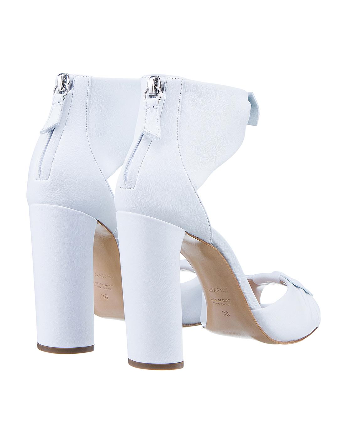 Босоножки белые женские  Casadei S1L530P1001MINOR9999-3