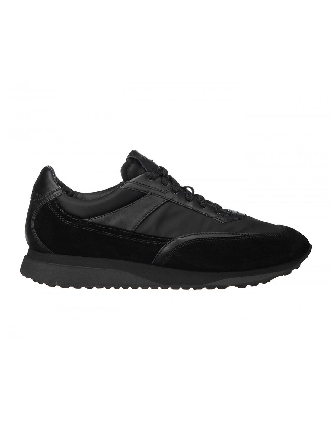 Кроссовки черные мужские Santoni S20840-1