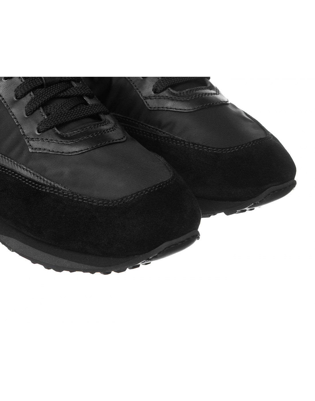 Кроссовки черные мужские Santoni S20840-4
