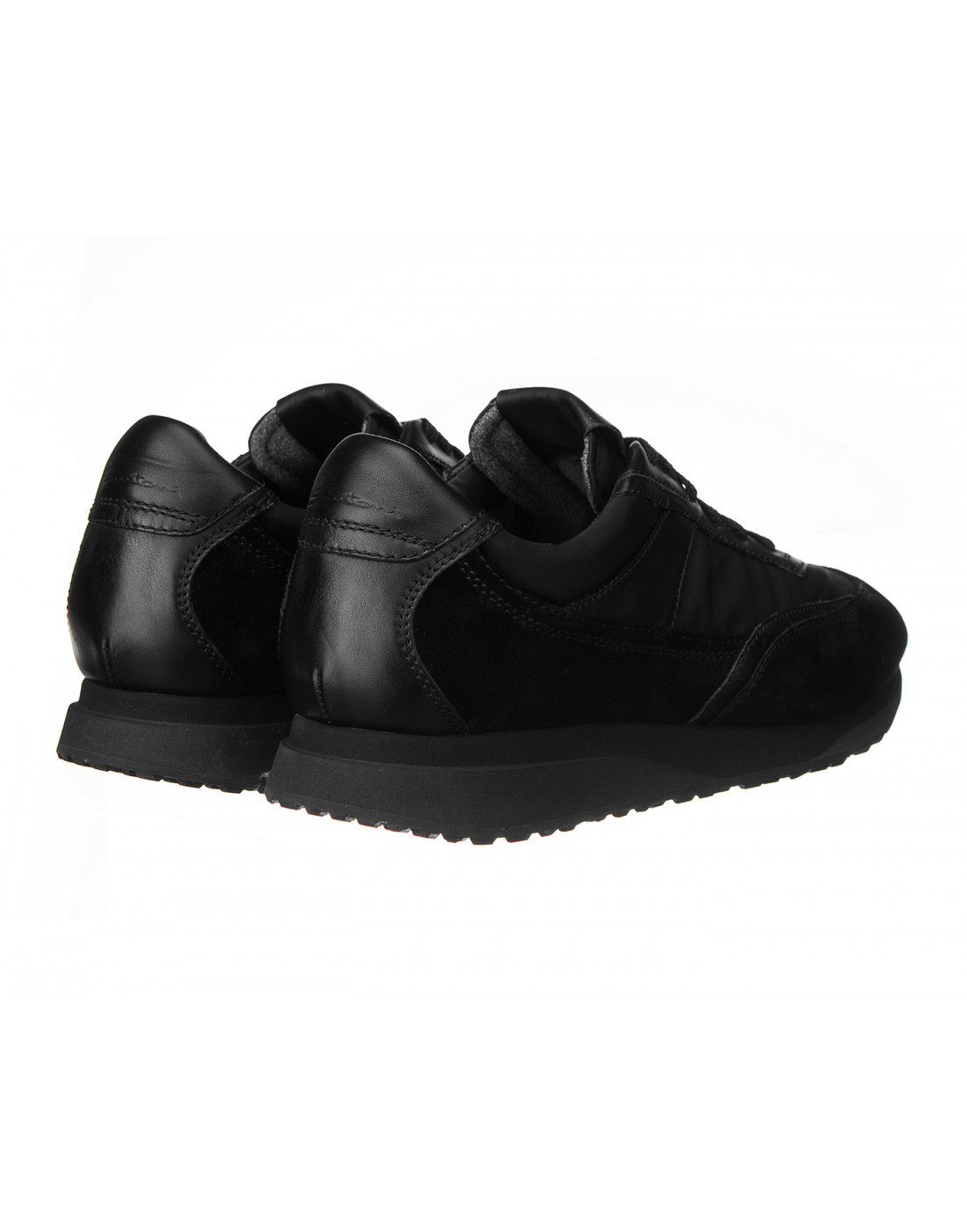 Кроссовки черные мужские Santoni S20840-3