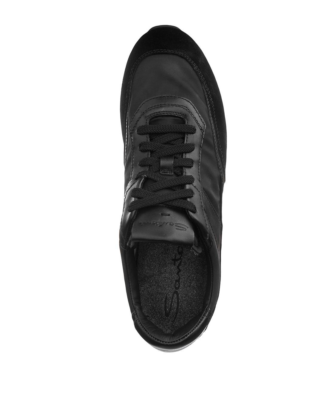 Кроссовки черные мужские Santoni S20840-5