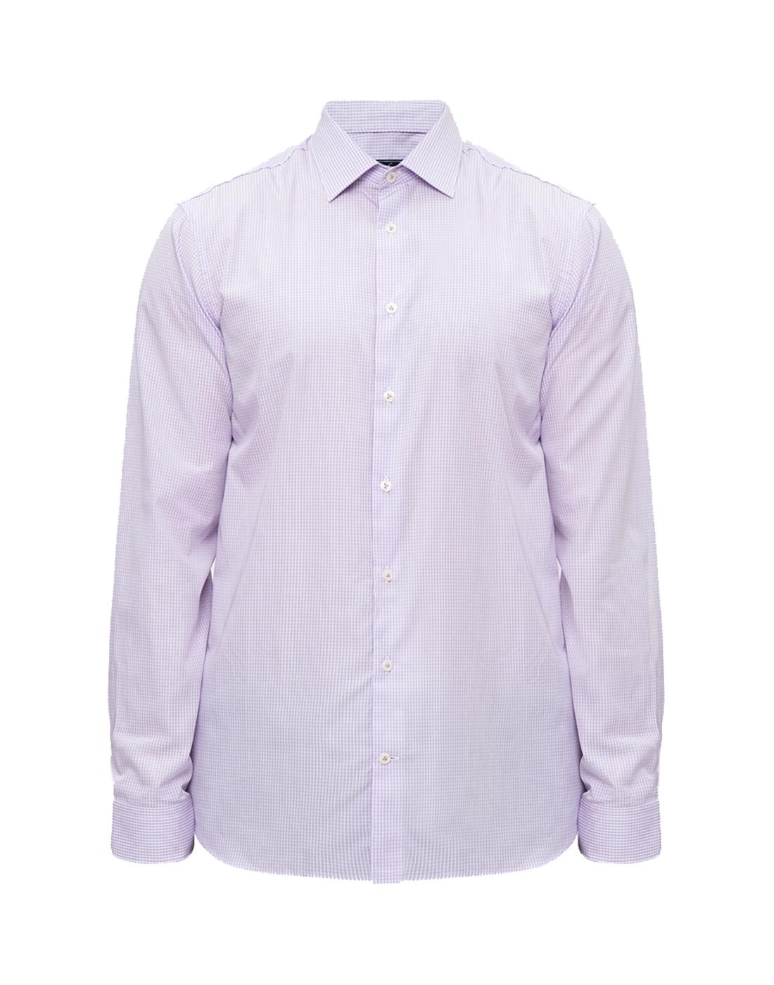 Мужская сиреневая рубашка в клетку Van Laack S151438/620-1