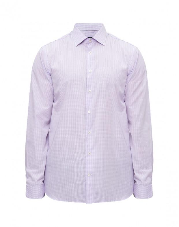 Мужская сиреневая рубашка в клетку