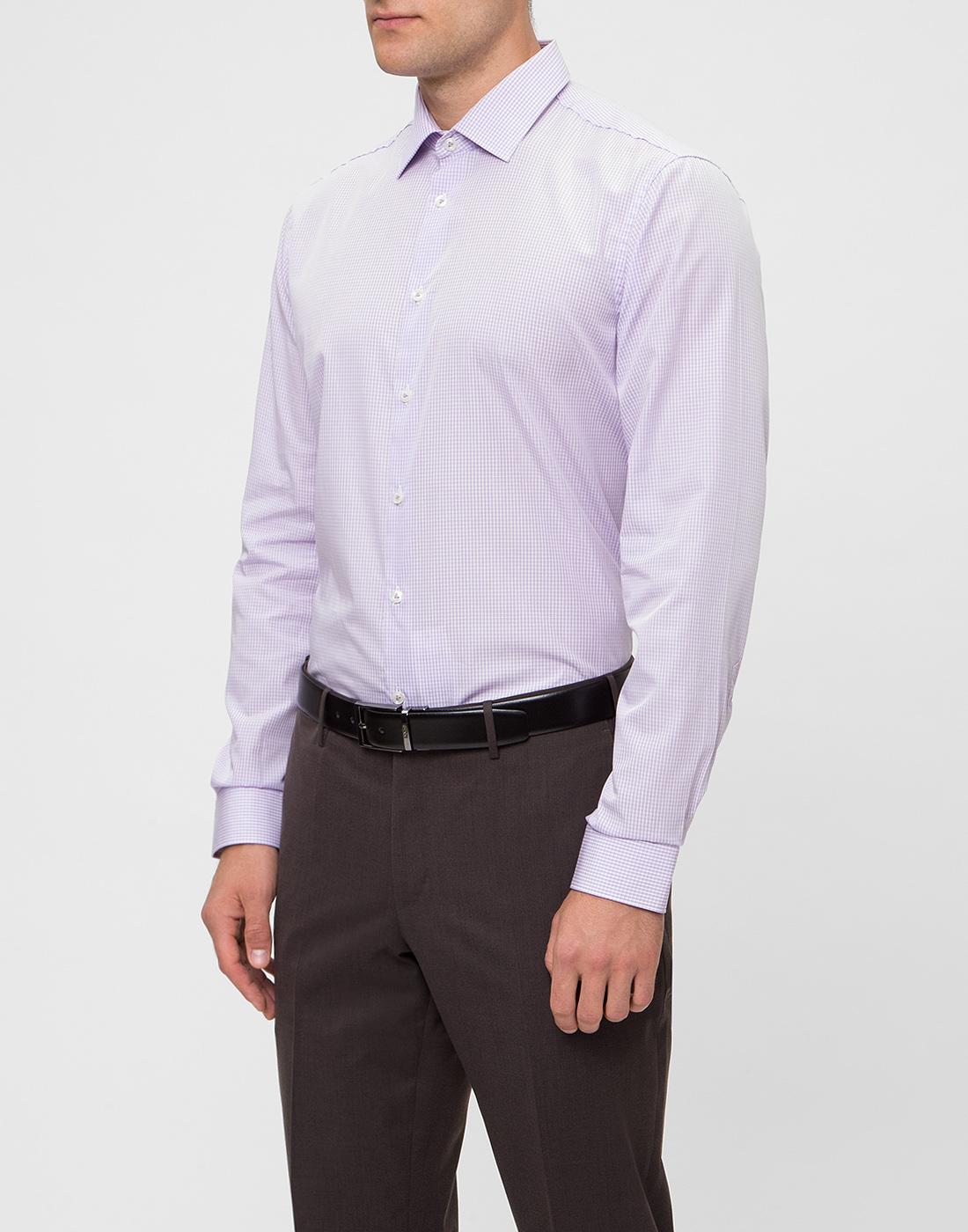 Мужская сиреневая рубашка в клетку Van Laack S151438/620-3