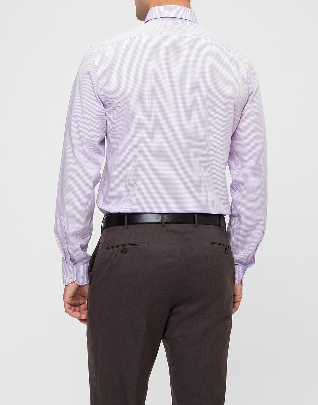 Мужская сиреневая рубашка в клетку Van Laack S151438/620-4