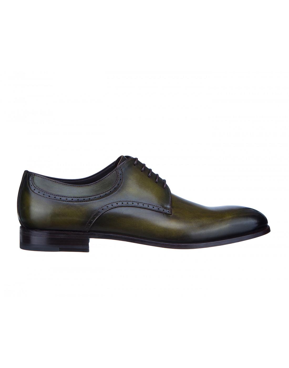 Туфли зеленые мужские Moreschi S42616-1