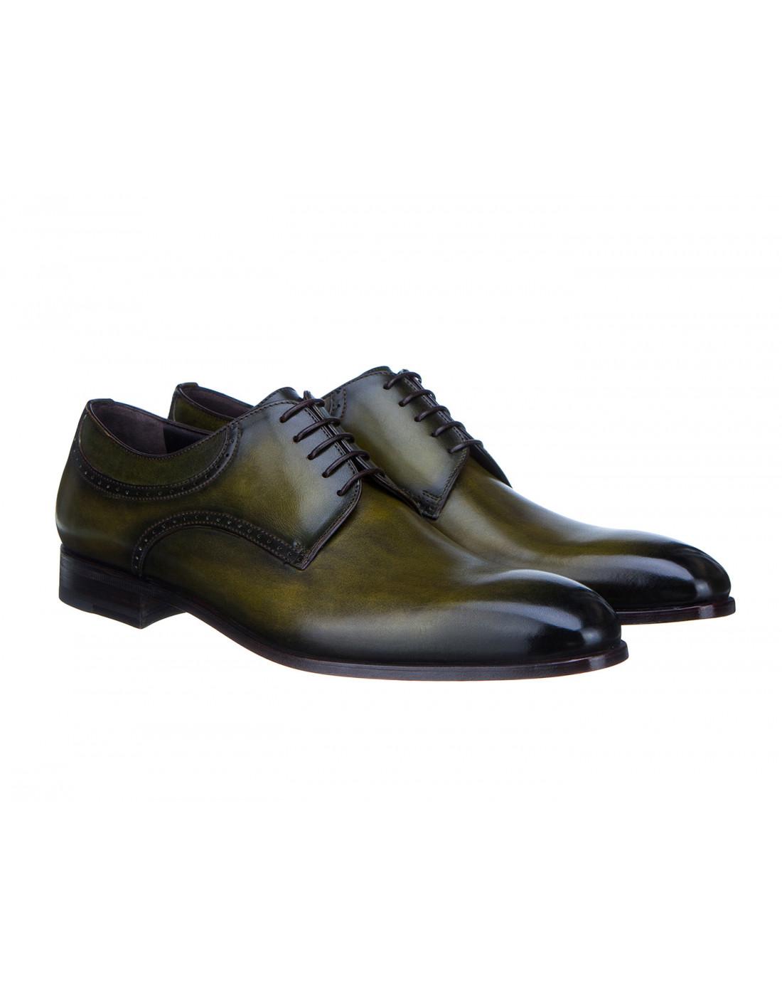 Туфли зеленые мужские Moreschi S42616-2