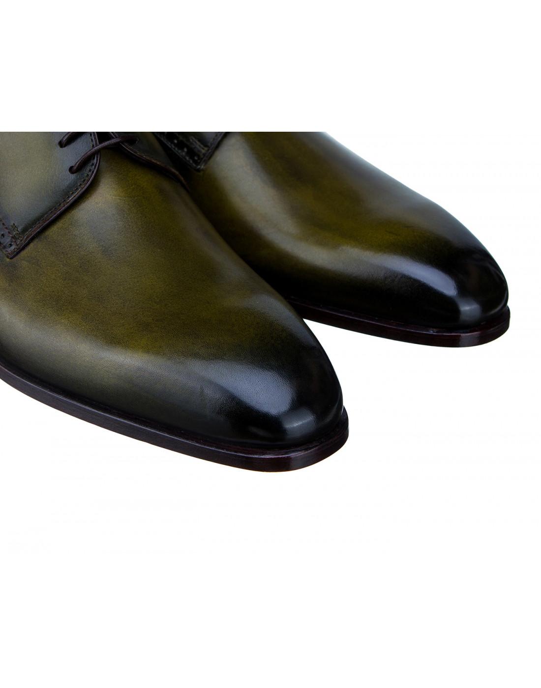 Туфли зеленые мужские Moreschi S42616-4