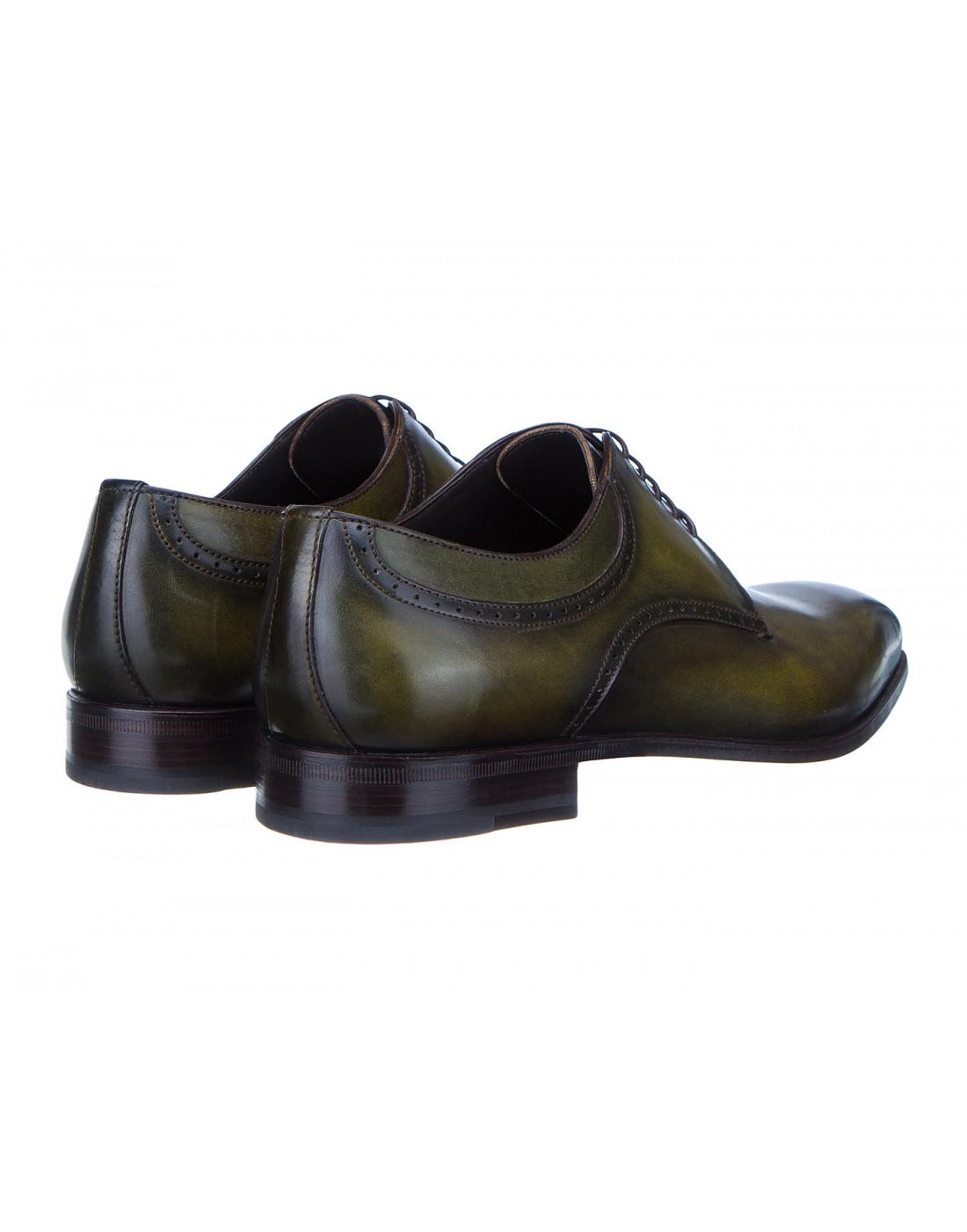 Туфли зеленые мужские Moreschi S42616-3