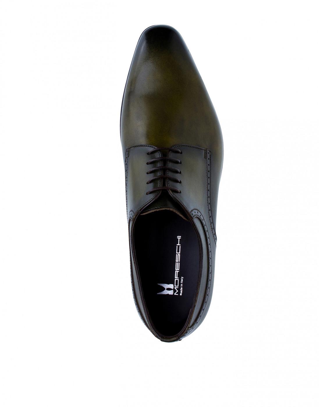 Туфли зеленые мужские Moreschi S42616-5