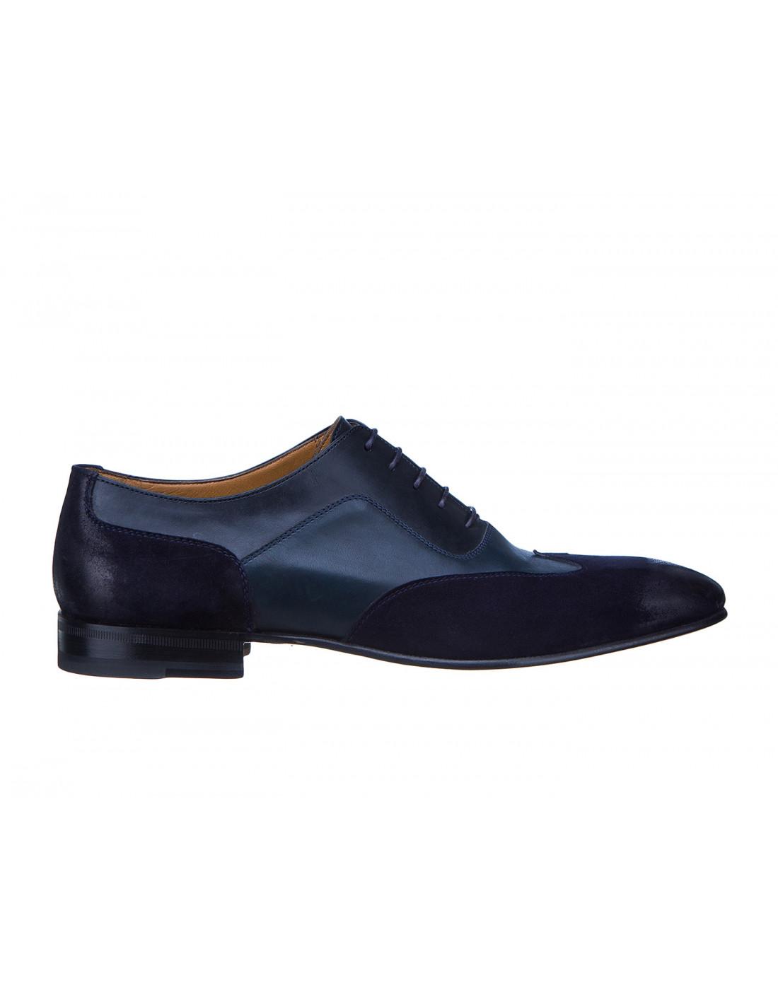 Туфли синие мужские Moreschi S42619 BLUE-1