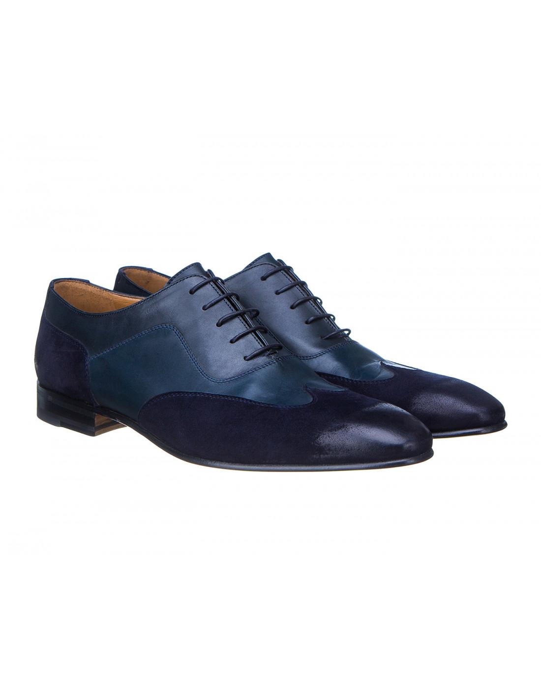 Туфли синие мужские Moreschi S42619 BLUE-2