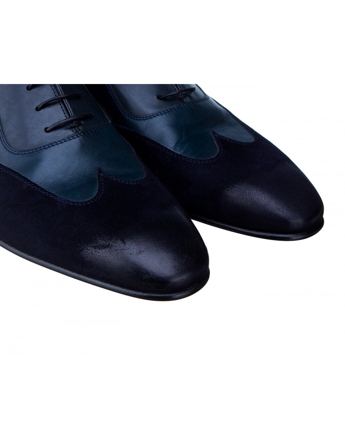 Туфли синие мужские Moreschi S42619 BLUE-4