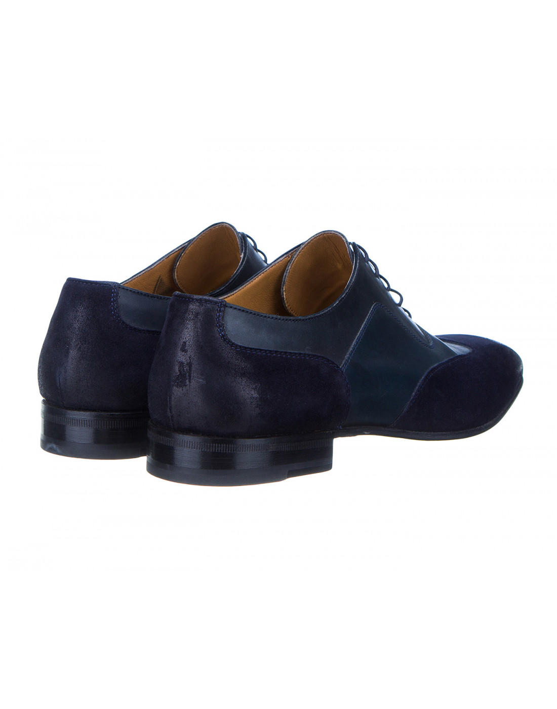Туфли синие мужские Moreschi S42619 BLUE-3