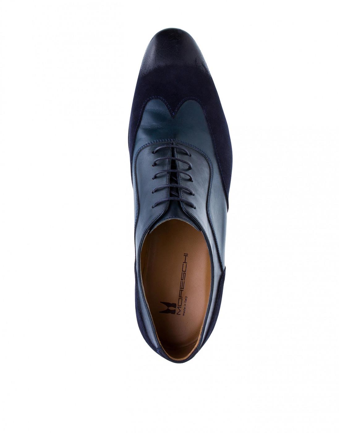 Туфли синие мужские Moreschi S42619 BLUE-5