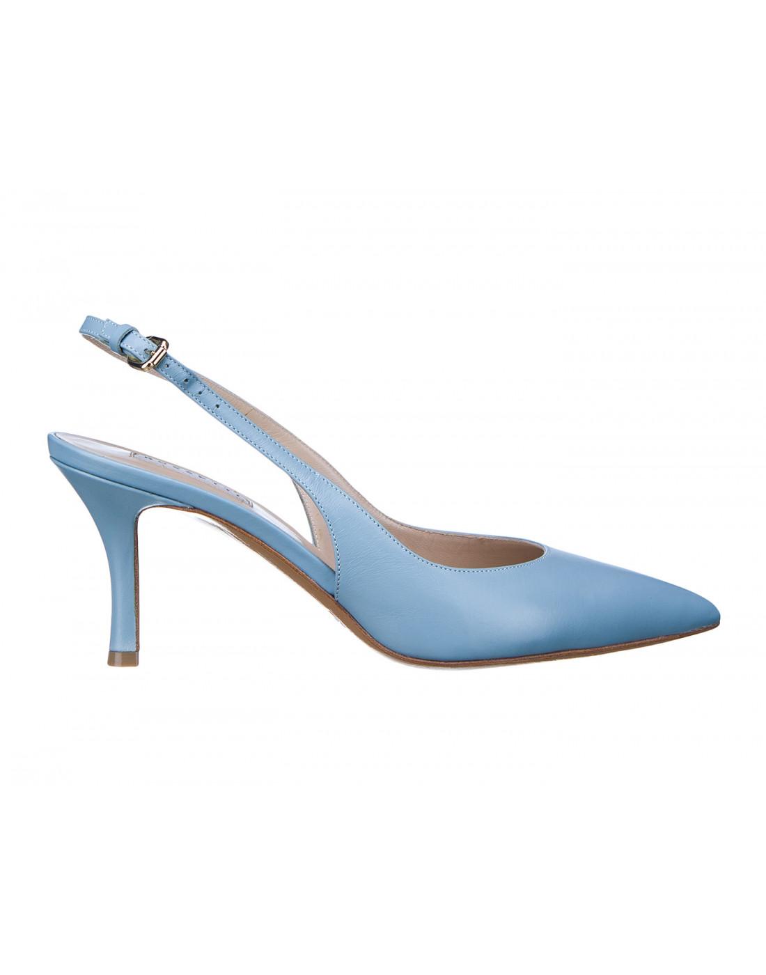 Босоножки голубые женские Fratelli Rossetti S66267-1