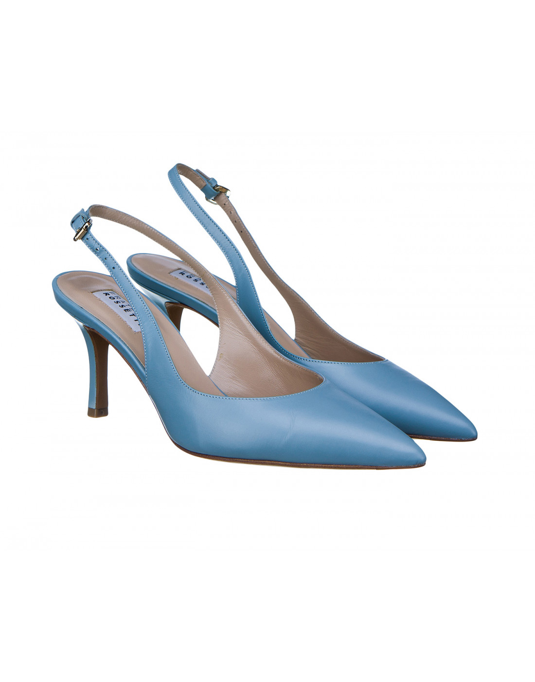 Босоножки голубые женские Fratelli Rossetti S66267-2