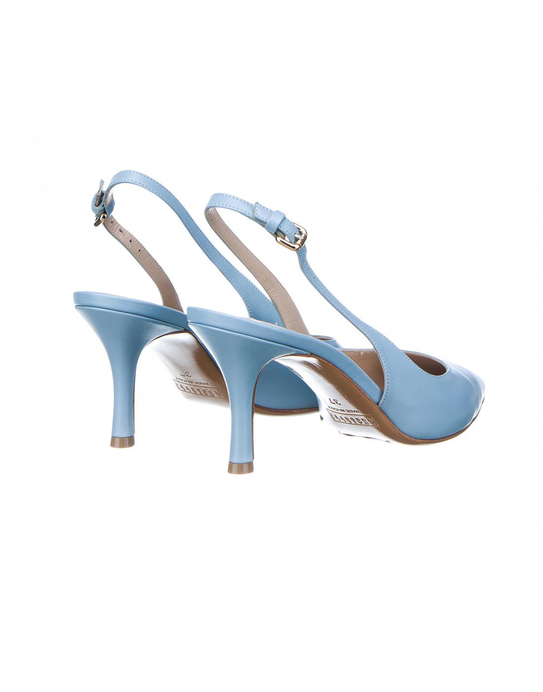 Босоножки голубые женские Fratelli Rossetti S66267-3