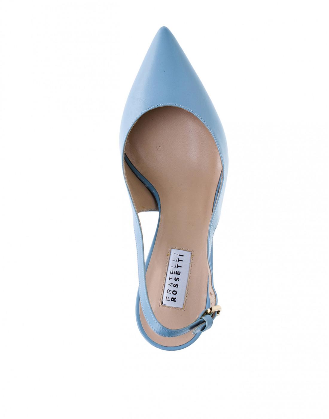 Босоножки голубые женские Fratelli Rossetti S66267-5