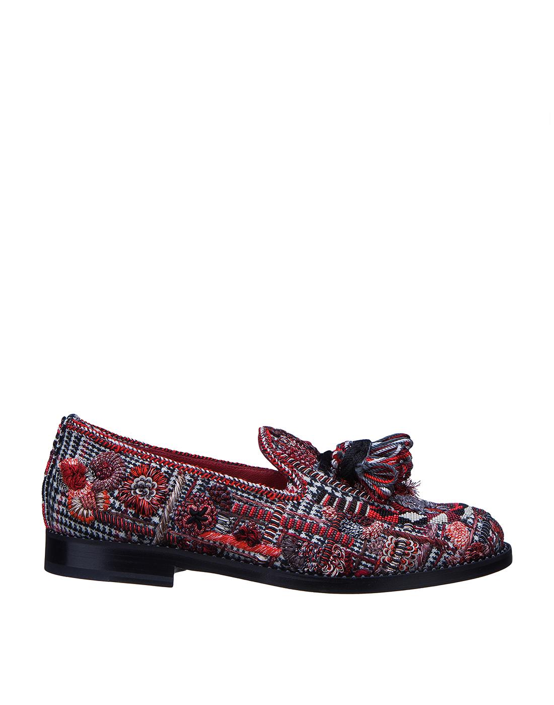 Туфли женские с кисточкой