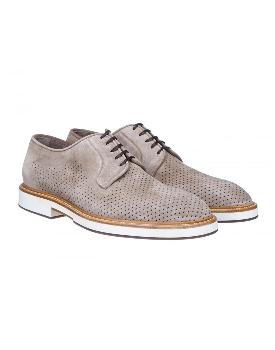Туфли коричневые мужские Brecos S7521-2