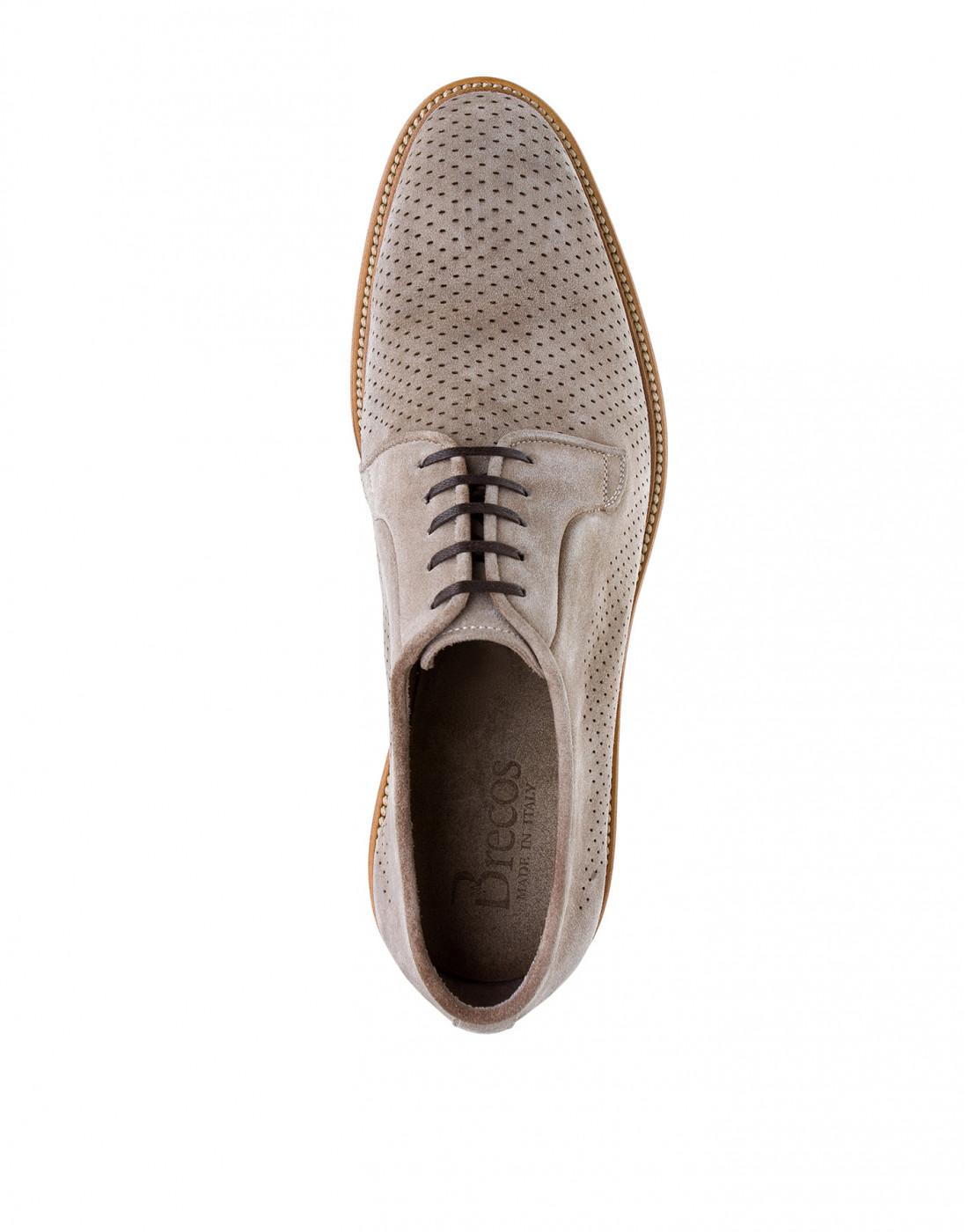 Туфли коричневые мужские Brecos S7521-5