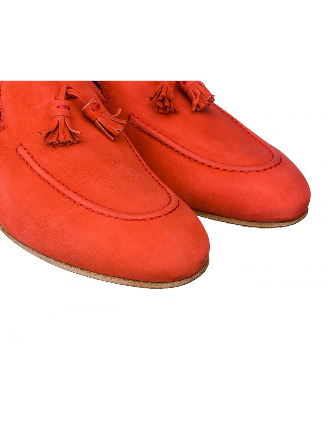 Лоферы красные мужские A.Guardiani S76028-4