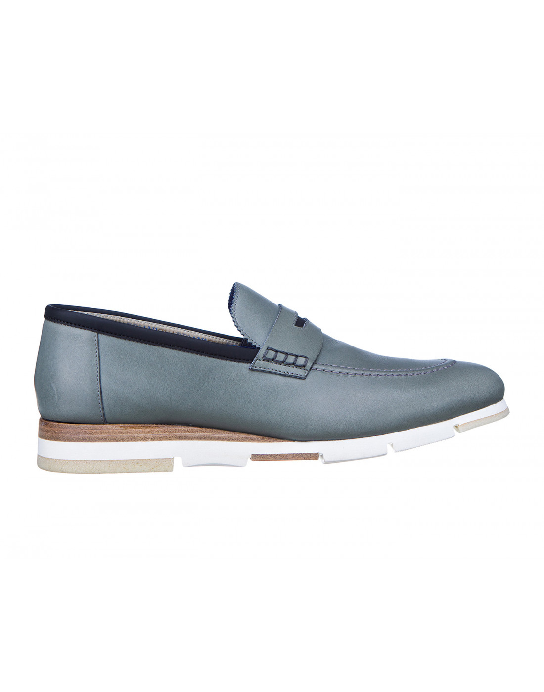 Туфли серые мужские A.Guardiani S76032S-1