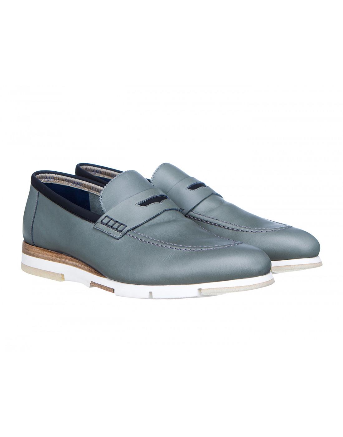 Туфли серые мужские A.Guardiani S76032S-2