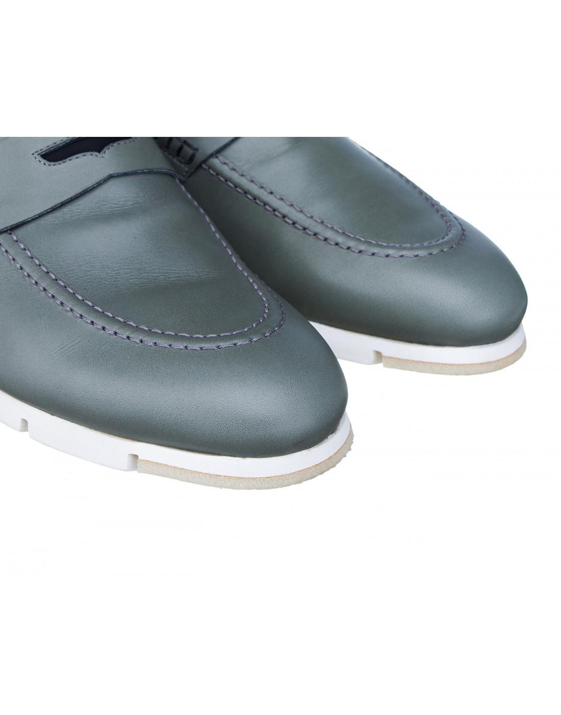 Туфли серые мужские A.Guardiani S76032S-4