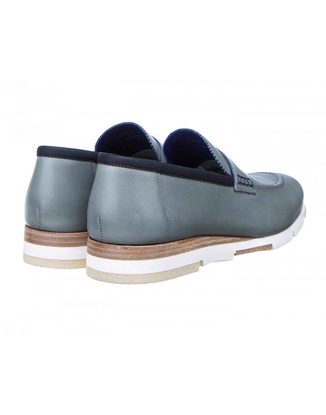 Туфли серые мужские A.Guardiani S76032S-3