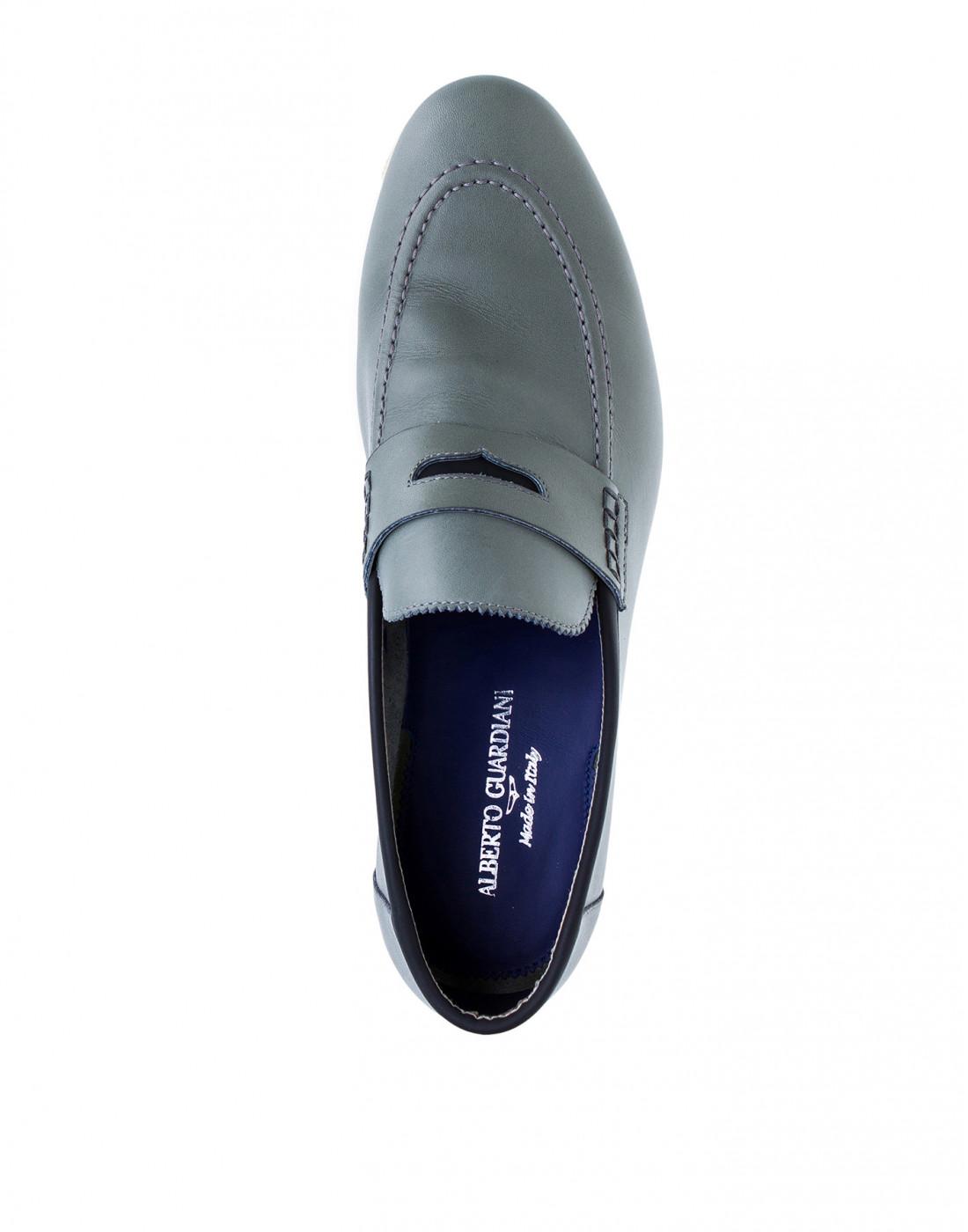 Туфли серые мужские A.Guardiani S76032S-5