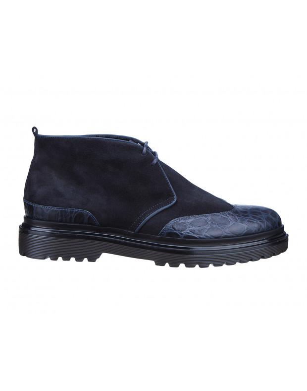 Ботинки синие мужские